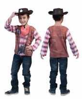 3d western shirt voor kinderen