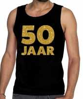 50 jaar fun tanktop mouwloos shirt zwart voor heren