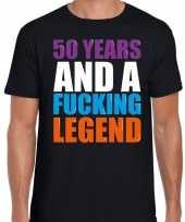 50 year cadeau verjaardag t-shirt zwart voor heren