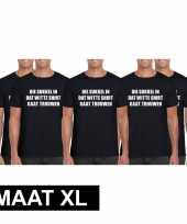 5x vrijgezellen t-shirt vrienden die sukkel gaat trouwen zwart heren maat xl