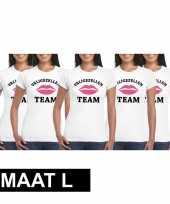 5x vrijgezellenfeest-shirt voor dames maat l