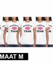 5x vrijgezellenfeest-shirt voor dames maat m