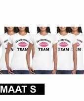 5x vrijgezellenfeest-shirt voor dames maat s