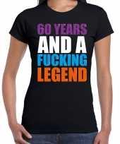 60 year cadeau verjaardag t-shirt zwart voor dames