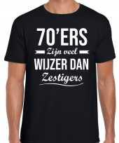 70 jaar verjaardags shirt kleding 70ers zijn veel wijzer dan zestigers zwart voor heren