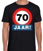 70e verjaardag stopbord shirt kleding 70 jaar zwart voor heren