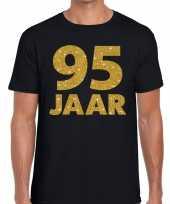 95e verjaardag cadeau t shirt zwart met goud heren