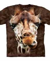 All over print kids t shirt giraf bruin