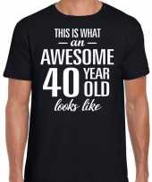 Awesome 40 year verjaardag cadeau t-shirt zwart voor heren