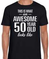 Awesome 50 year verjaardag cadeau t-shirt zwart voor heren