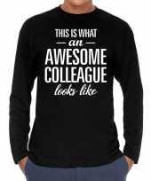 Awesome colleague collega cadeau shirt zwart voor heren