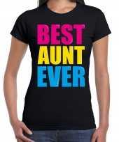 Best aunt ever beste tante ooit fun verjaardag t shirt zwart voor dames