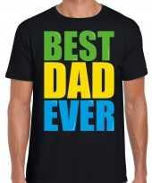 Best dad ever beste vader ooit fun verjaardag t shirt zwart voor heren