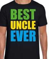 Best uncle ever beste oom ooit fun verjaardag t-shirt zwart voor heren