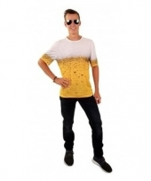 Bierprint t-shirt voor volwassenen