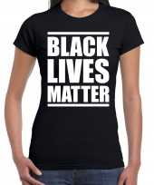 Black lives matter politiek protest betoging shirt anti discriminatie zwart voor dames