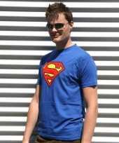 Blauwe superman t-shirts