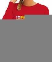 Brandweervrouw sweater trui rood voor dames