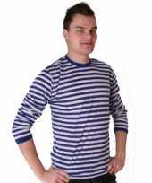 Dorus shirt blauw met wit voor heren