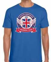 Engeland drinking team t-shirt blauw heren
