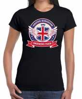 Engeland drinking team t-shirt zwart dames