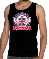 Engeland drinking team tanktop mouwloos shirt zwart heren