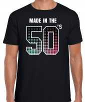 Feest shirt made in the 50s t shirt outfit zwart voor heren