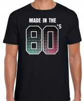 Feest shirt made in the 80s party t shirt outfit zwart voor heren