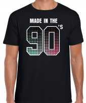 Feest shirt made in the 90s t shirt outfit zwart voor heren