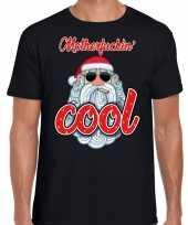 Fout kerstborrel t-shirt kerstshirt stoere santa motherfucking cool zwart voor heren