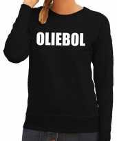 Foute oud en nieuw trui sweater oliebol zwart voor dames