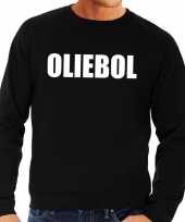 Foute oud en nieuw trui sweater oliebol zwart voor heren