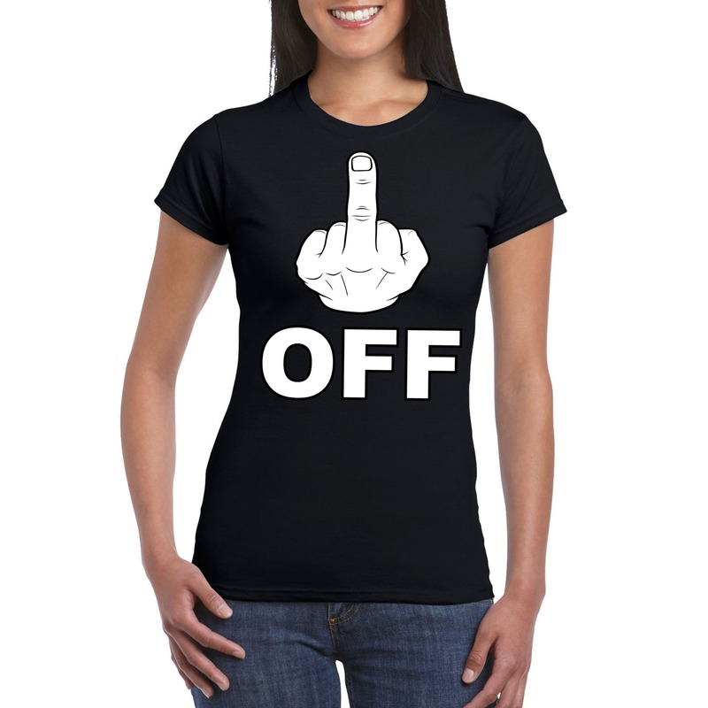 Fuck off shirt voor dames