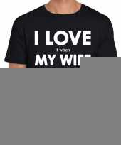 Fun t shirt i love it when my wife lets me play video games zwart voor heren