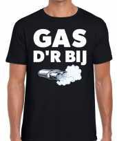 Gas der bij zwarte cross achterhoek t-shirt zwart voor heren