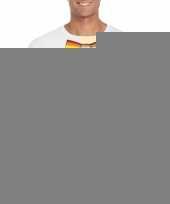 Gay pride shirt met regenboog vlinderstrikje wit heren