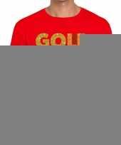 Gold digger fun t-shirt rood voor heren