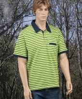 Golf poloshirt bretons lime