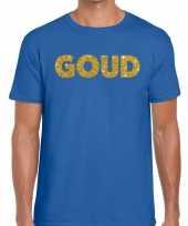 Goud fun t-shirt blauw voor heren
