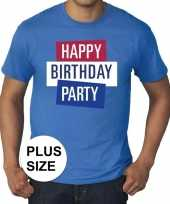Grote maten officieel toppers in concert happy birthday party 2019 t-shirt blauw heren