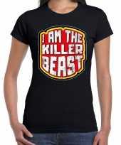Halloween i am the killer beast horror shirt zwart voor dames