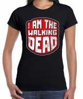 Halloween walking dead horror shirt zwart voor dames