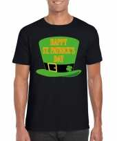 Happy st patricksday t-shirt zwart heren