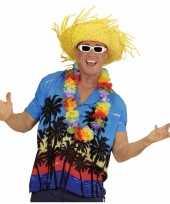 Hawaii kostuum blauw overhemd voor heren