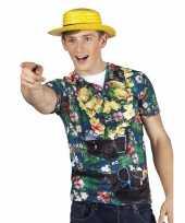 Hawaii overhemd fotoprint bloemen voor heren