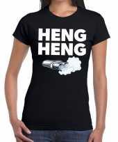 Heng heng zwarte cross achterhoek t-shirt zwart voor dames