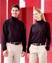 Heren col t-shirt roll neck