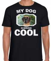 Honden liefhebber shirt deense dog my dog is serious cool zwart voor heren