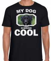 Honden liefhebber shirt friese stabij my dog is serious cool zwart voor heren