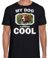 Honden liefhebber shirt kooiker my dog is serious cool zwart voor heren